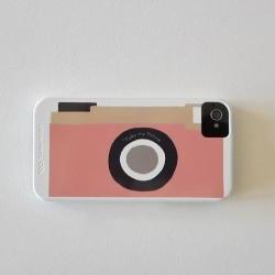 Camera Pink Vintage Retro IPhone 4/4s case Modern redtilestudio