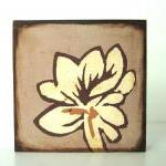 Rust and Beige Flower with Pale War..